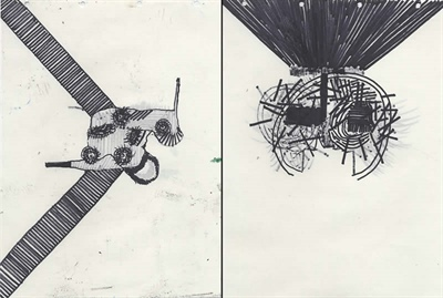 Absorption recto/verso (noir et blanc) 1 et 2,